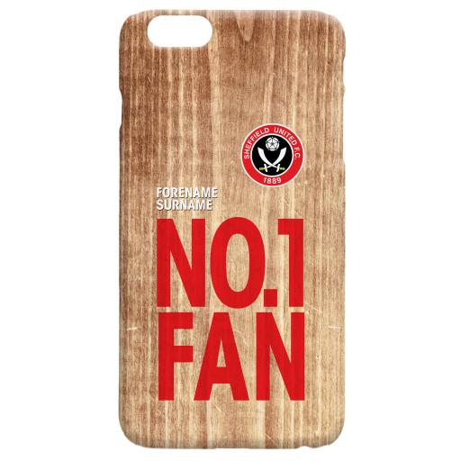 Sheffield United FC No 1 Fan Hard Back Phone Case