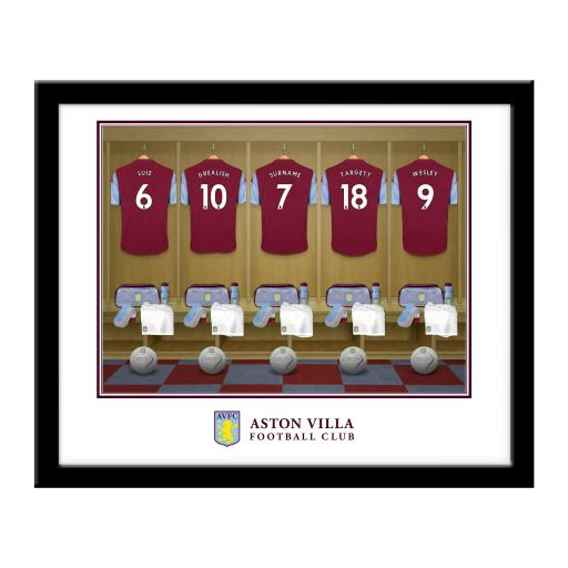 Aston Villa FC Dressing Room Framed Print