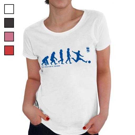 Personalised Birmingham City Evolution Ladies T-Shirt.