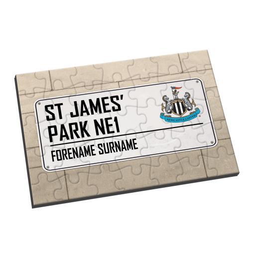 Newcastle United FC Street Sign Jigsaw