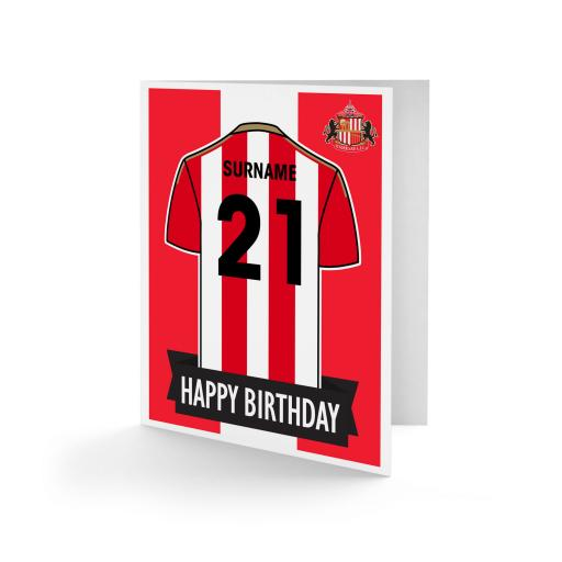 Sunderland AFC Shirt Birthday Card