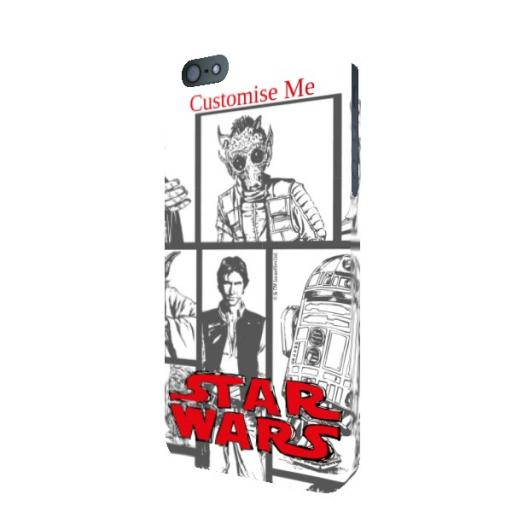 Star Wars Classic Grid Print iPhone 5/5s/5SE Clip Case