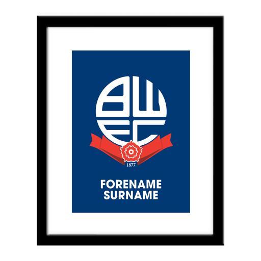 Bolton Wanderers Bold Crest Print