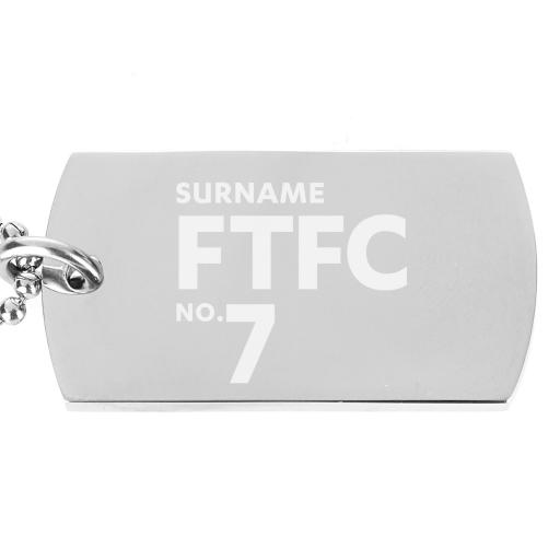 Fleetwood Town FC Number Dog Tag Pendant