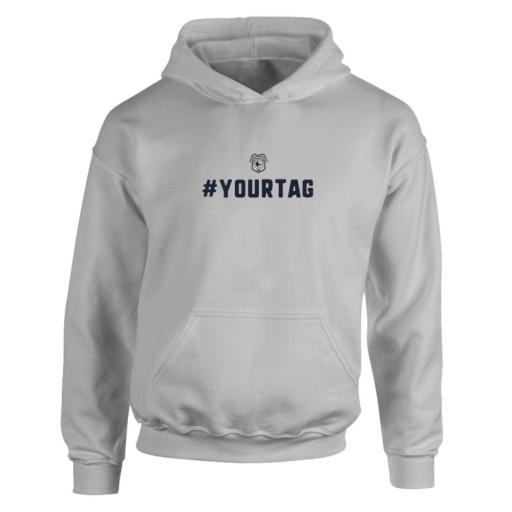 Personalised Cardiff City FC Crest Hashtag Hoodie.
