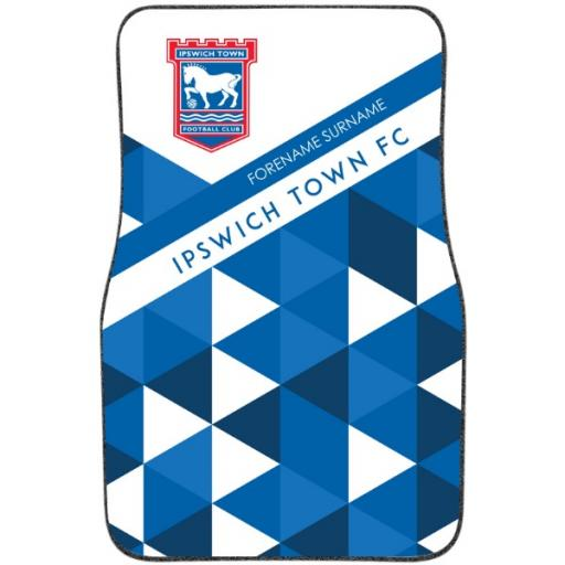 Ipswich Town FC Patterned Front Car Mat