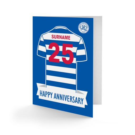 Queens Park Rangers FC Shirt Anniversary Card