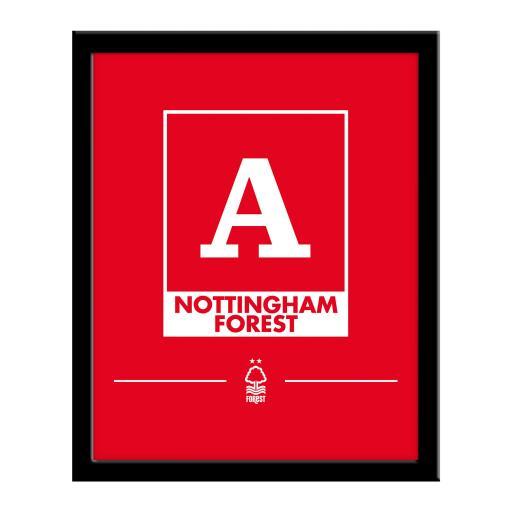 Nottingham Forest FC Monogram 290 x 360 Framed Print
