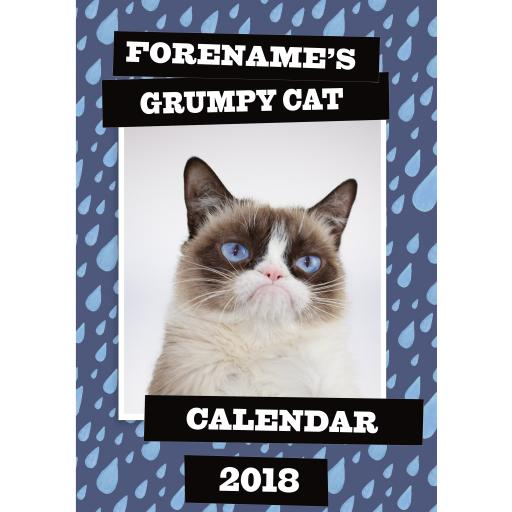 Grumpy Cat - Personalised 2018 Calendar