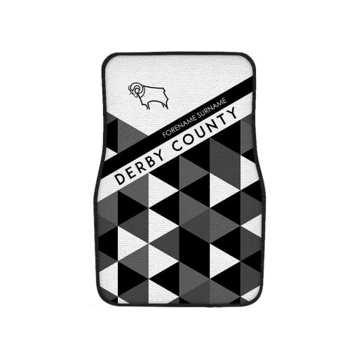 Derby County Patterned Front Car Mat
