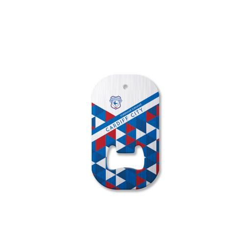Cardiff City FC Patterned Compact Bottle Opener