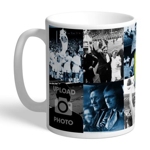 Personalised Leeds United FC Legends Photo Mug.