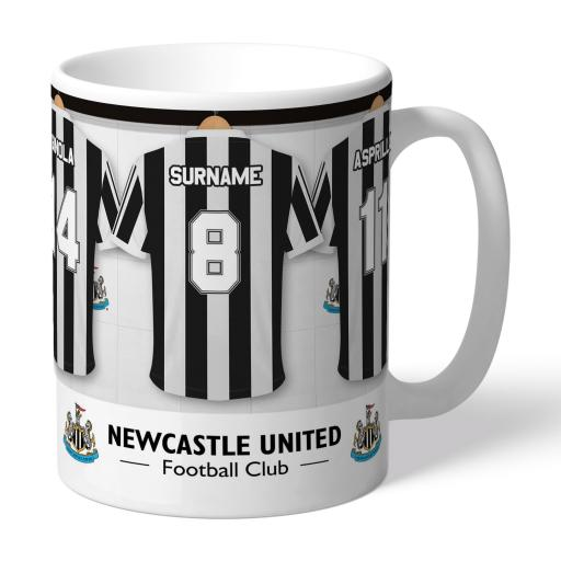 Personalised Newcastle United FC Legends Dressing Room Mug.