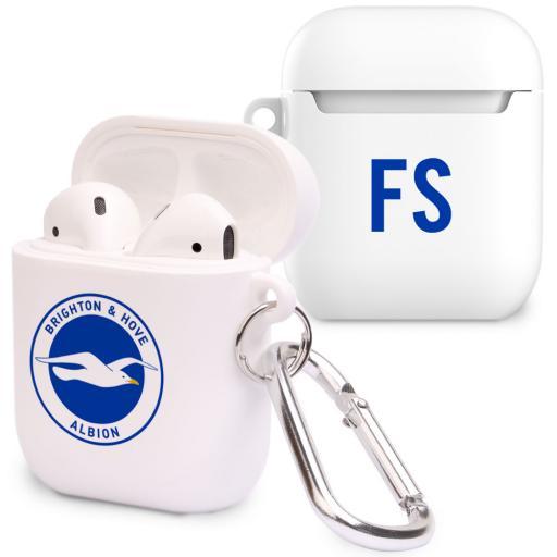 Personalised Brighton & Hove Albion FC Initials Airpod Case.