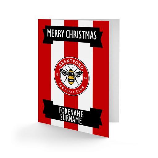 Brentford FC Crest Christmas Card