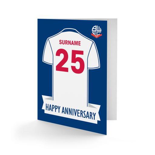 Bolton Wanderers FC Shirt Anniversary Card