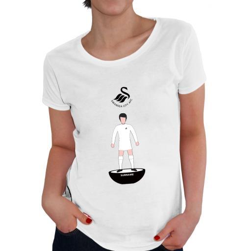 Swansea City AFC Player Figure Ladies T-Shirt