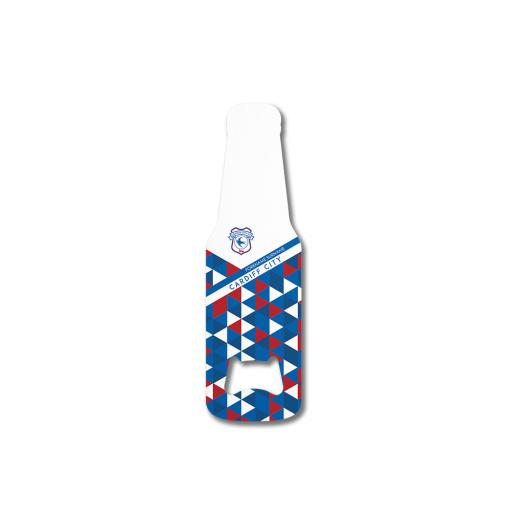 Cardiff City FC Patterned Bottle Shaped Bottle Opener