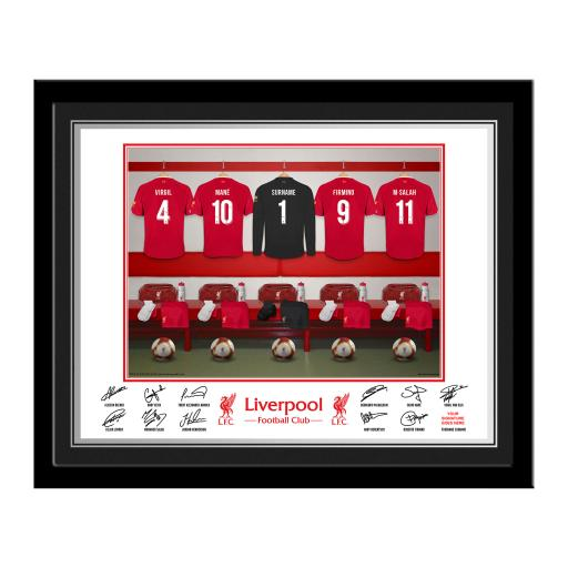 LFC Goalkeeper Dressing Room Photo Framed