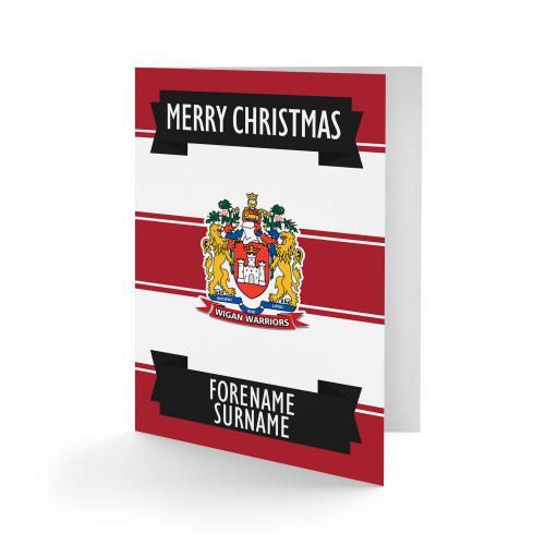 Wigan Warriors Crest Christmas Card