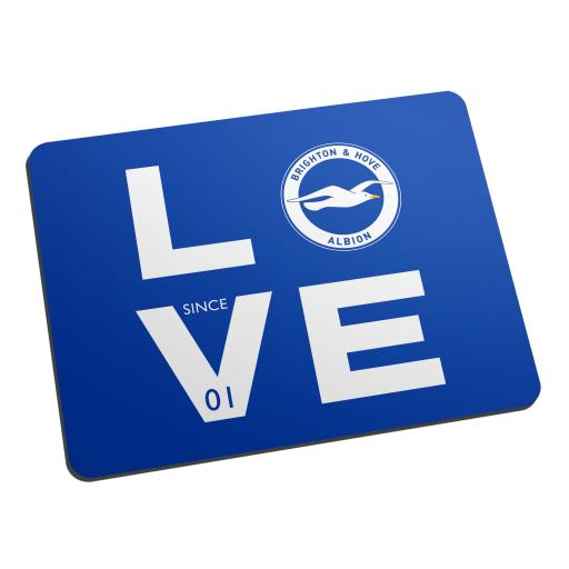 Personalised Brighton & Hove Albion FC Love Mouse Mat.
