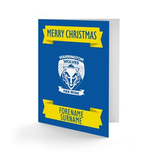 Warrington Wolves Crest Christmas Card
