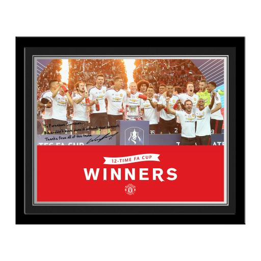 Personalised Manchester United FC FA Cup Winners 2016 Photo.