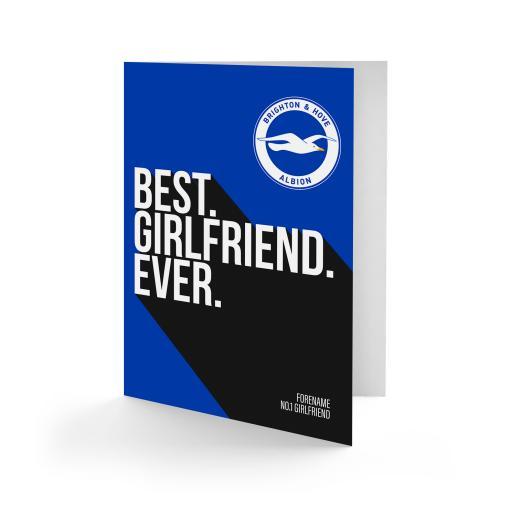Brighton & Hove Albion FC Best Girlfriend Ever Card