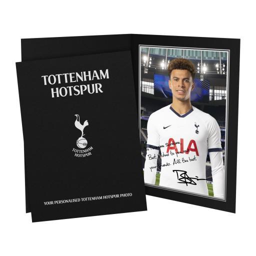 Tottenham Hotspur Alli Autograph Photo Folder