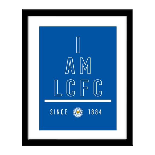 Personalised Leicester City FC I Am Print.
