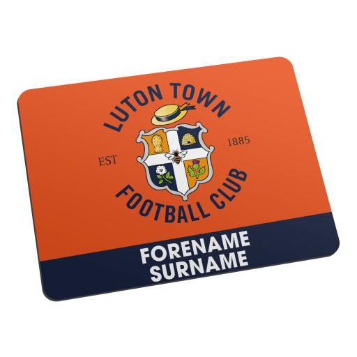 Luton Town FC Bold Crest Mouse Mat