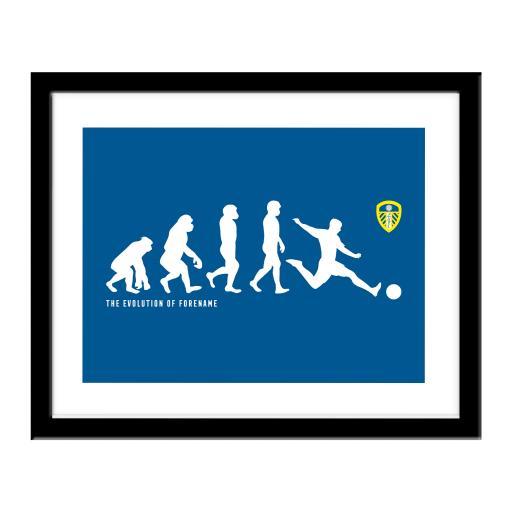 Personalised Leeds United FC Evolution Print.
