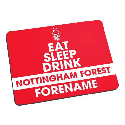 Nottingham Forest FC Eat Sleep Drink Mouse Mat