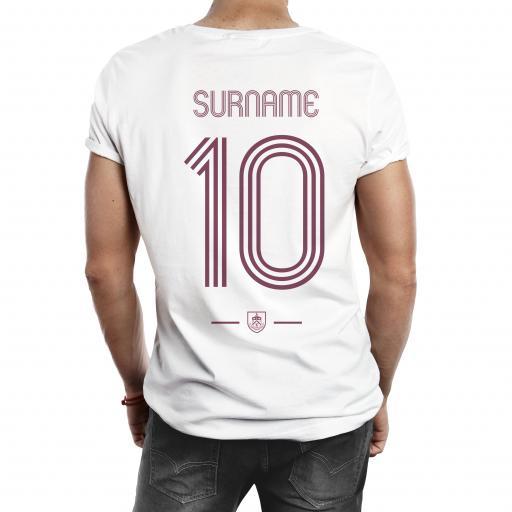Burnley FC Retro Shirt Mens T-Shirt