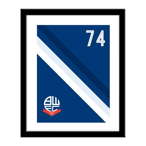 Bolton Wanderers Stripe Print