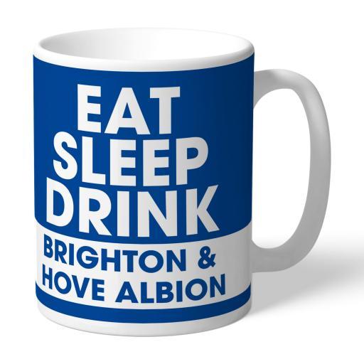 Brighton & Hove Albion FC Eat Sleep Drink Mug