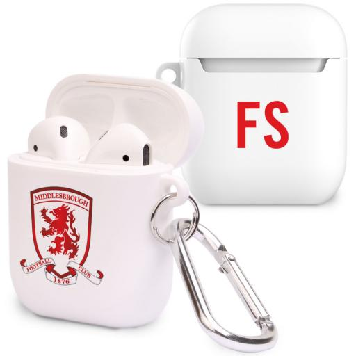 Personalised Middlesbrough FC Initials Airpod Case.