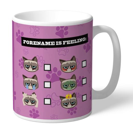 Grumpy Cat Emoji - Feeling Mug Pink