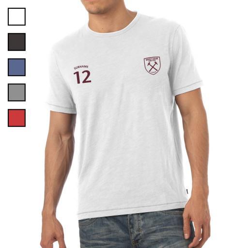 Personalised West Ham United FC Mens Sports T-Shirt.