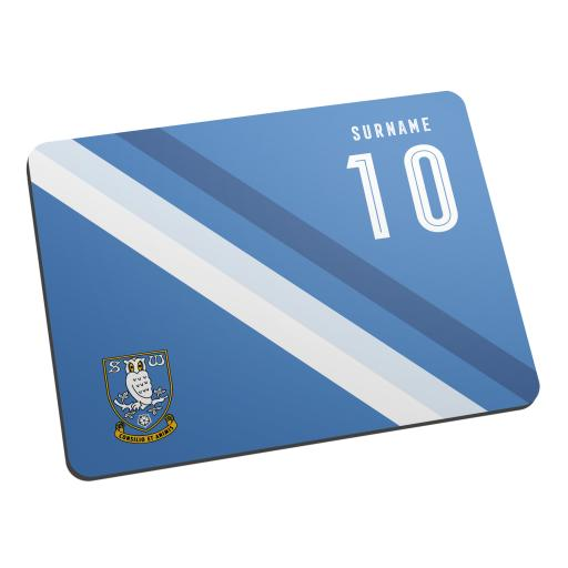 Personalised Sheffield Wednesday Stripe Mouse Mat.