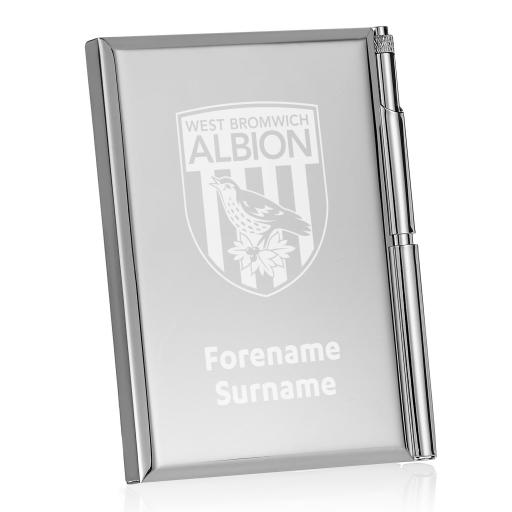 Personalised West Bromwich Albion FC Crest Address Book.