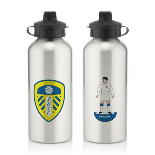 Personalised Leeds United FC Player Figure Water Bottle.