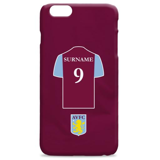 Aston Villa FC Shirt Hard Back Phone Case