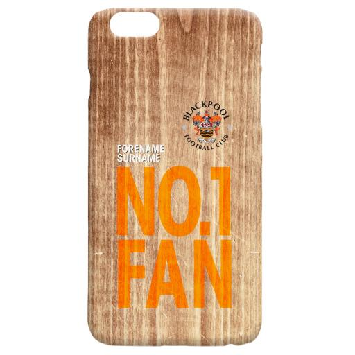 Blackpool FC No 1 Fan Hard Back Phone Case