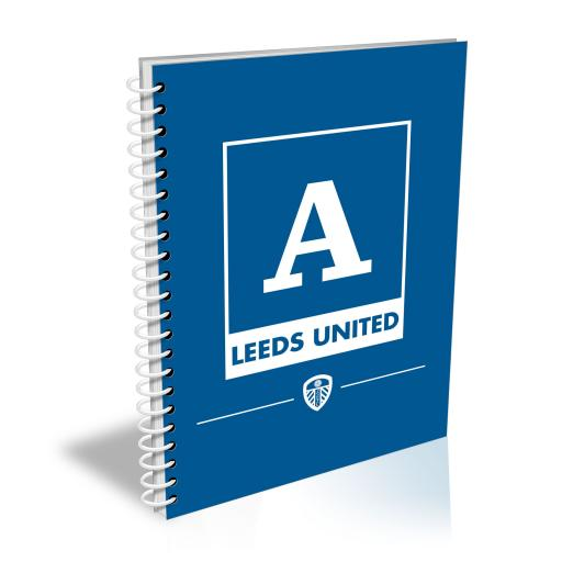 Leeds United FC Monogram A5 Lined Notepad