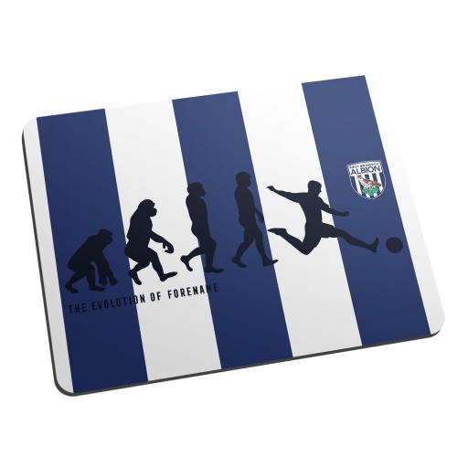 Personalised West Bromwich Albion FC Evolution Mouse Mat.