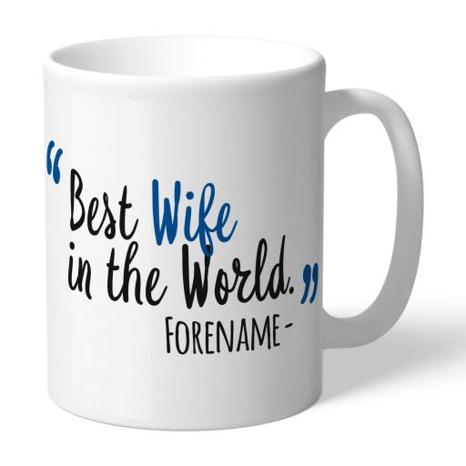 Personalised Birmingham City Best Wife In The World Mug.