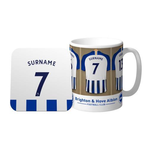 Brighton & Hove Albion FC Dressing Room Mug & Coaster Set