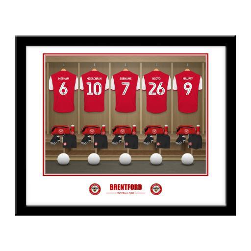Brentford FC Dressing Room Framed Print