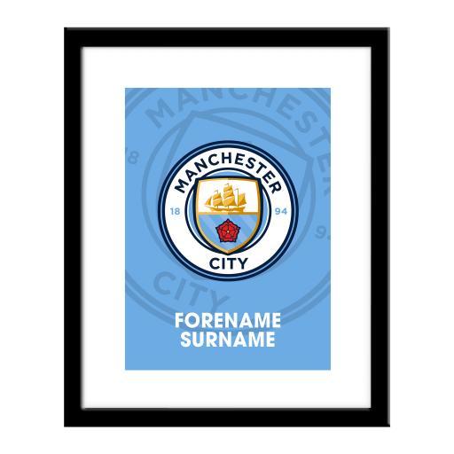 Manchester City FC Bold Crest Print